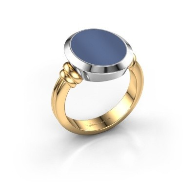 Foto van Zegelring Jake 3 585 goud blauw lagensteen 15x12 mm
