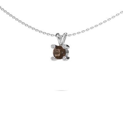 Picture of Pendant Fleur 950 platinum smokey quartz 5 mm
