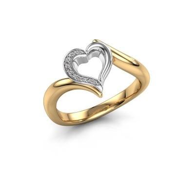 Ring Katlyn 585 goud diamant 0.038 crt