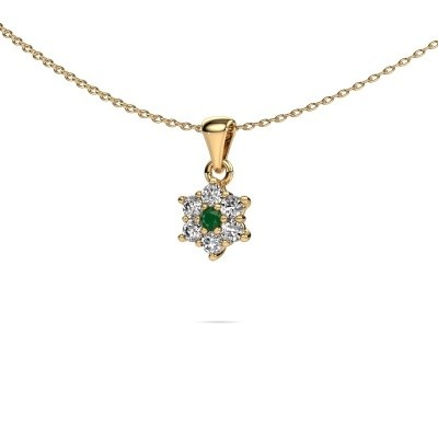 Picture of Necklace Chantal 375 gold emerald 2.4 mm