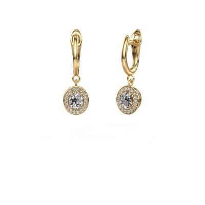 Foto van Oorhangers Nakita 750 goud diamant 0.880 crt
