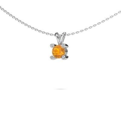 Picture of Pendant Fleur 950 platinum citrin 5 mm