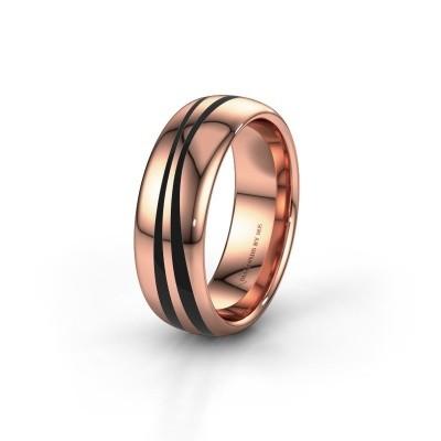 Huwelijksring WH2226M36BP 585 rosé goud ±6x2 mm