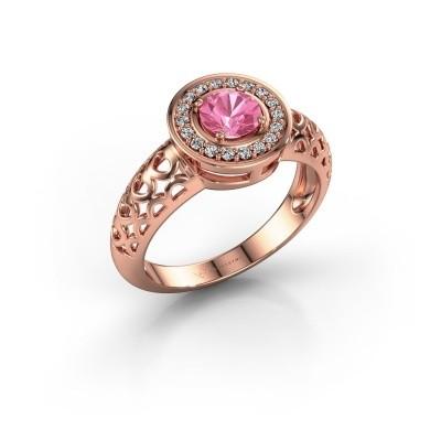 Foto van Ring Katalina 375 rosé goud roze saffier 5 mm