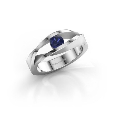 Picture of Ring Ruthanne 375 white gold sapphire 4.2 mm