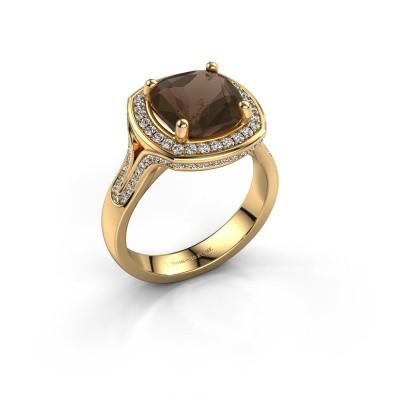 Foto van Ring Lili 375 goud rookkwarts 9 mm