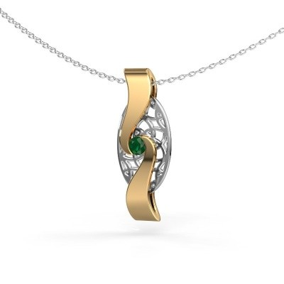 Picture of Pendant Darleen 585 gold emerald 3 mm