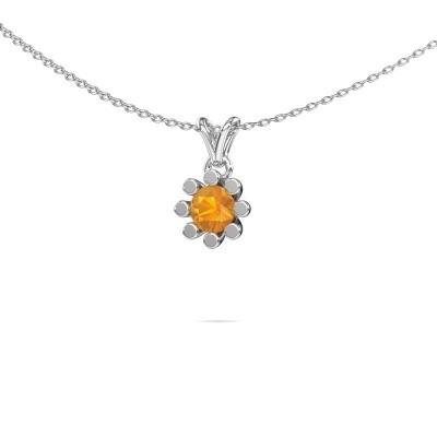 Picture of Pendant Carola 1 375 white gold citrin 5 mm