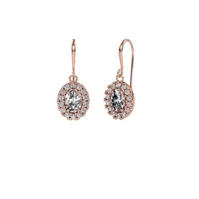 Picture of Drop earrings Jorinda 1 375 rose gold zirconia 7x5 mm