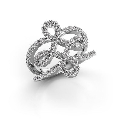 Foto van Ring Chantay 585 witgoud diamant 0.72 crt