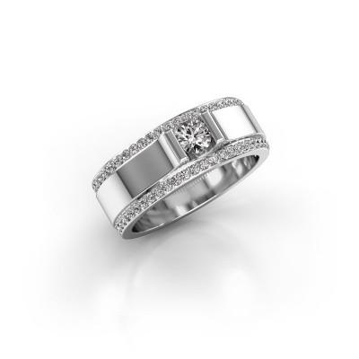 Foto van Herenring Danillo 585 witgoud diamant 0.705 crt