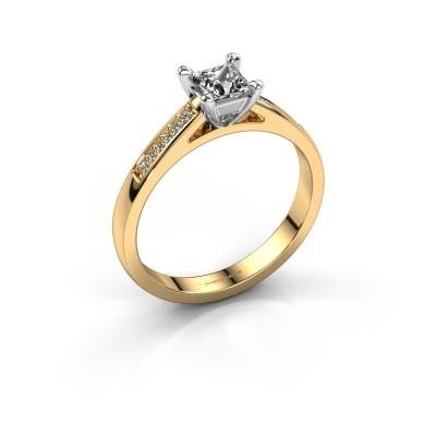 Verlovingsring Nynke SQR 585 goud diamant 0.46 crt