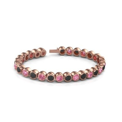Foto van Tennisarmband Delma 750 rosé goud roze saffier 5 mm