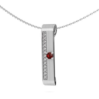 Picture of Necklace Vicki 950 platinum garnet 3 mm