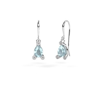 Picture of Drop earrings Bunny 1 375 white gold aquamarine 7x5 mm