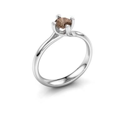 Foto van Verlovingsring Livia 585 witgoud bruine diamant 0.50 crt