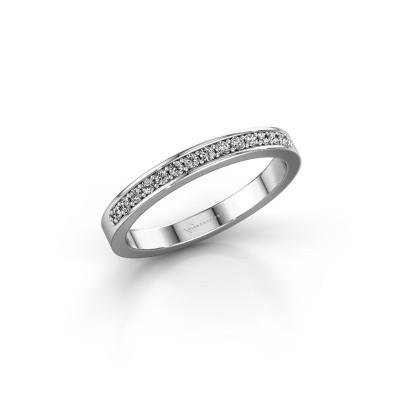 Foto van Aanschuifring SRJ0005B20H6 950 platina diamant 0.168 crt