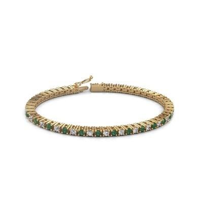 Foto van Tennisarmband Petra 375 goud smaragd 3 mm
