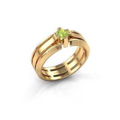 Foto van Heren ring Sem 585 goud peridoot 4.7 mm