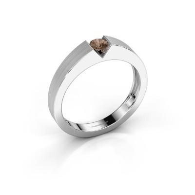 Foto van Verlovingsring Lizzy 1 925 zilver bruine diamant 0.20 crt