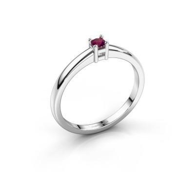 Foto van Promise ring Eline 1 585 witgoud rhodoliet 3 mm