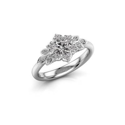 Bild von Verlobungsring Tatjana 585 Weissgold Diamant 0.635 crt