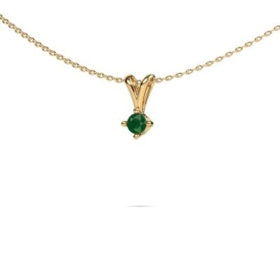 Picture of Necklace Jannette 375 gold emerald 3.7 mm