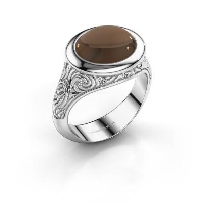 Foto van Ring Natacha 925 zilver rookkwarts 12x10 mm