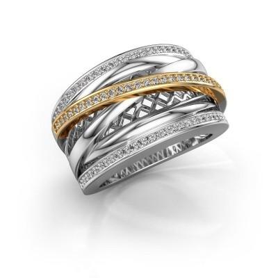 Foto van Ring Tabita 585 witgoud diamant 0.405 crt