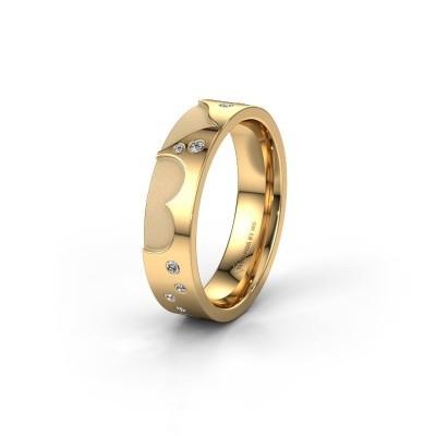 Trouwring WH2114L25A 585 goud diamant ±5x1.7 mm