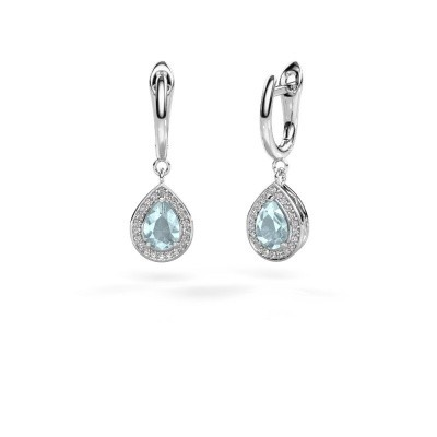 Picture of Drop earrings Ginger 1 925 silver aquamarine 7x5 mm