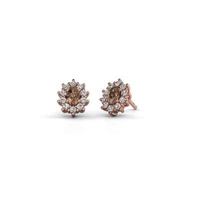 Foto van Oorbellen Leesa 375 rosé goud bruine diamant 1.60 crt
