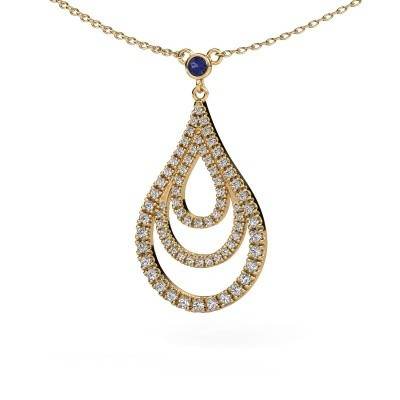 Picture of Pendant Delpha 585 gold sapphire 1.4 mm