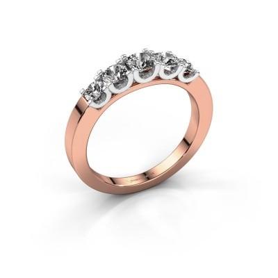 Foto van Verlovingsring Selina 2 585 rosé goud diamant 0.70 crt