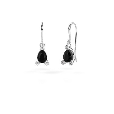 Picture of Drop earrings Bunny 1 375 white gold black diamond 1.605 crt