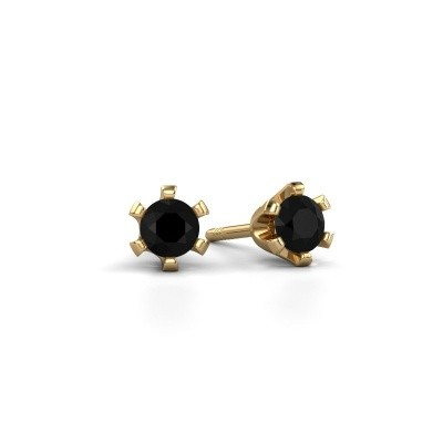 Picture of Stud earrings Shana 375 gold black diamond 0.60 crt