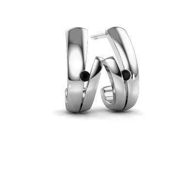 Picture of Earrings Shela 925 silver black diamond 0.072 crt