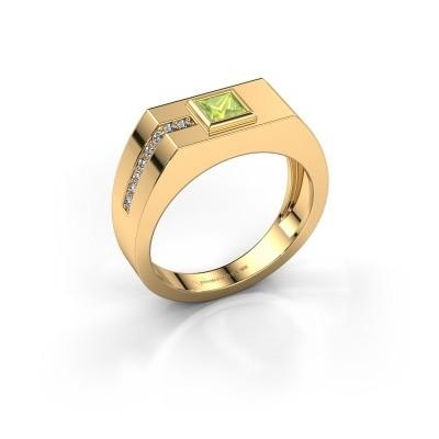 Foto van Heren ring Robertus 1 585 goud peridoot 4 mm