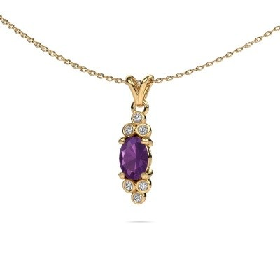 Picture of Pendant Lucy 2 375 gold amethyst 7x5 mm