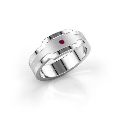 Foto van Heren ring Guido 950 platina rhodoliet 2 mm