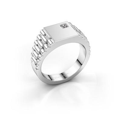 Foto van Rolex stijl ring Pelle 950 platina zirkonia 3 mm