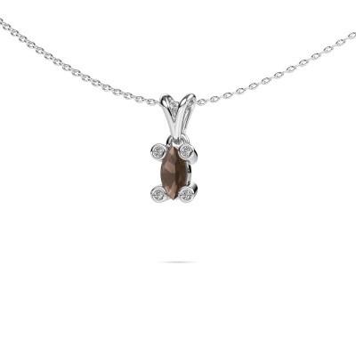 Picture of Necklace Cornelia Marquis 950 platinum smokey quartz 7x3 mm