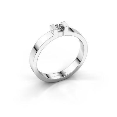 Foto van Verlovingsring Lieve 1 585 witgoud diamant 0.10 crt