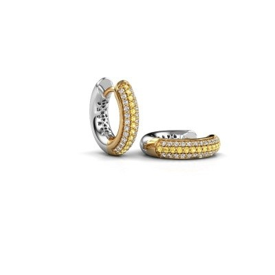 Picture of Hoop earrings Tristan B 14 mm 585 gold yellow sapphire 1 mm