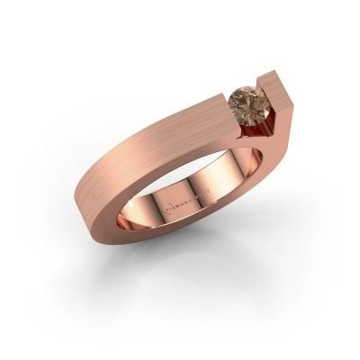 Foto van Ring Aisha 375 rosé goud bruine diamant 0.30 crt