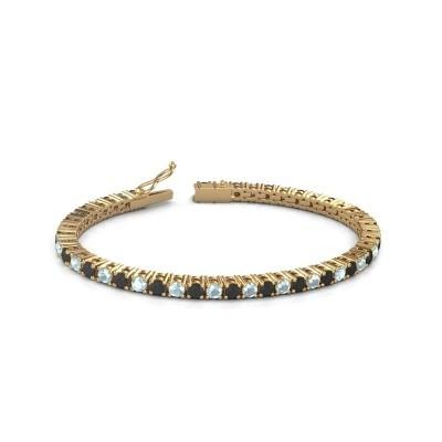 Foto van Tennisarmband Jenny 375 goud zwarte diamant 5.184 crt