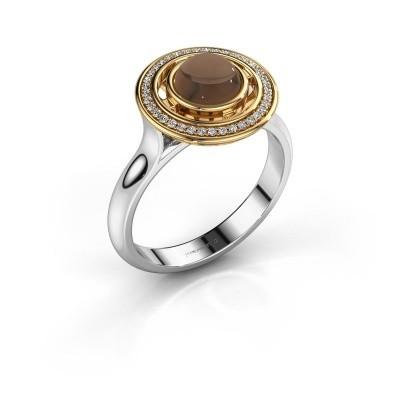 Picture of Ring Salima 585 white gold smokey quartz 6 mm