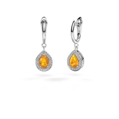 Picture of Drop earrings Ginger 1 925 silver citrin 7x5 mm