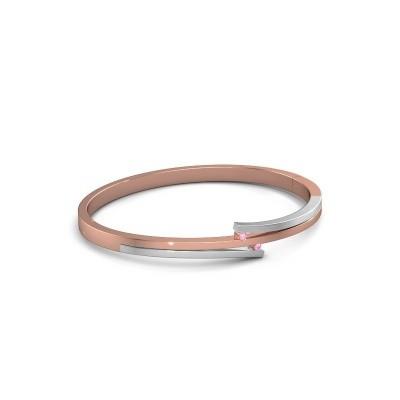 Foto van Armband Roxane 585 rosé goud roze saffier 2 mm