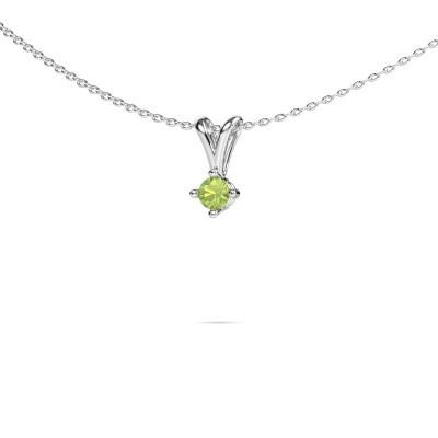 Picture of Necklace Jannette 585 white gold peridot 3.7 mm